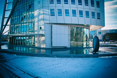 Turning Torso (Maria Eklind) Tags: himmel weather outdoor water building malmö sweden winter reflection spegling sky ankarparken architecture turningtorso snow ice skånelän sverige se