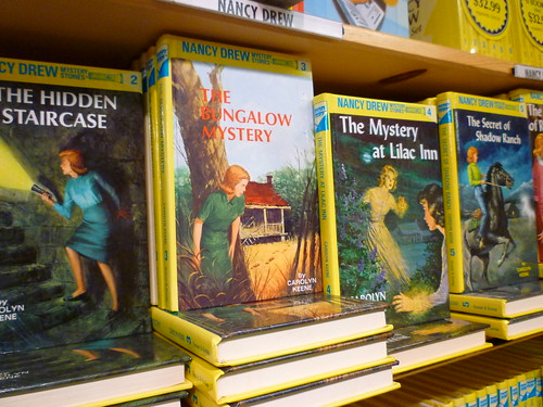 Nancy Drew solves mysteries, uncovers secrets, finds staircases