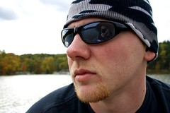 On a boat (VV Bucks Photography LLC) Tags: trip autumn portrait man reflection tree cute sexy male guy fall nature beautiful face sunglasses bike forest daddy outdoors goatee boat spring woods photographer natural hiking walk father profile brandon handsome environmental tshirt husband shades hike lips camo camouflage portraiture cheeks biking wife facialhair lover cuteness boattrip tee hinkley onaboat profileportrait environmentalportrait environmentalportraiture hinkleylake hinckleylake gaitee
