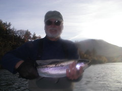 Bob with a Beautiful Chunky Klamath Steelhead