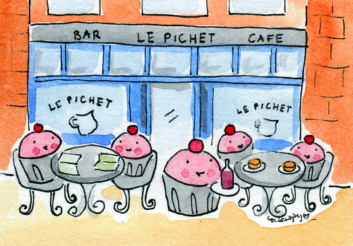 Cupcakes at Le Pichet in Belltown, Seattle