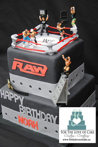 Cool Bc4068 Wwe Raw Wrestling Birthday Cake A Photo On Flickriver Funny Birthday Cards Online Alyptdamsfinfo