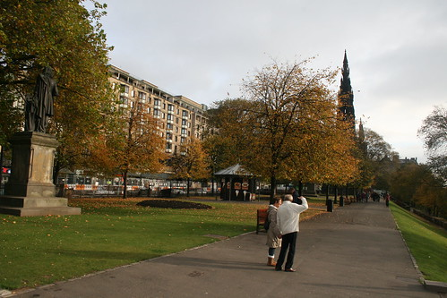 Princess street and Scotts Monument