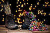 Saint Nicholas ~ Explored ~ (Sergiu Bacioiu) Tags: wood saint closeup mos shoe lights december candy boots bokeh good grunge bad dirty nicholas gifts romania rod colourful nikolaus nicolae niculae outstandingromanianphotographers