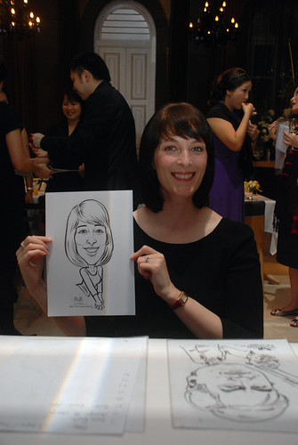 Caricature live sketching for AMEC Party - 3
