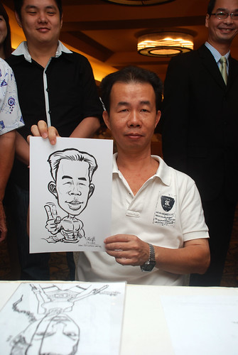 Caricature live sketching for Hock Cheong Printing Pte Ltd D&D 2009 - 3