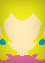 Peach (infinitecontinues) Tags: illustration graphicdesign nintendo mario minimal videogame colourful simple bold