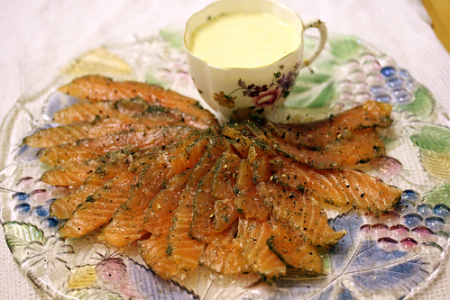 Top down gravadlax ring