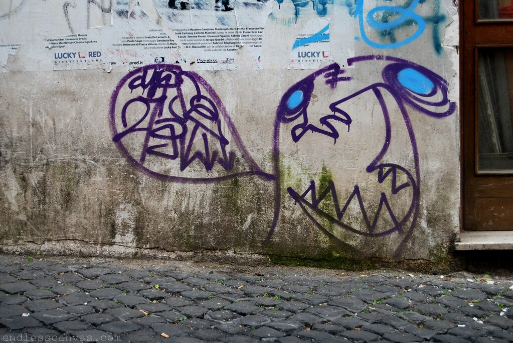 Curse Graffiti Character in Rome, Italy 2009.