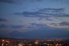 ... (Seroujo) Tags: mountain skyline canon eos 50mm dusk mount armenia yerevan hdr masis ararat 500d      t1i