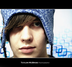 (Taylor.McBride) Tags: blue white selfportrait eye me hat contrast hair person sp taylor mcbride 18135mm taylormcbride