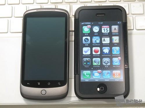 google nexus one_與iphone並排_數位時代_賀大新攝
