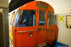 The Tube Train Sleeps (Trance-Elbow) Tags: uk england london station train tube londonunderground resting 1968 walthamstow walthamstowcentral lul victorialine canoneos400d