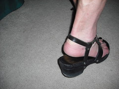 Clog sandals from behind (2moshoes) Tags: wood man black male men feet leather fun him back toes toe legs sandals platform thong strap clogs heels toering sandal clog bastad backstrap