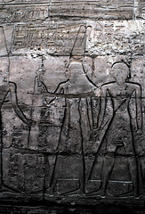 Egyptian Relief Carving (Dan.iow) Tags: rock stone egypt carving relief pharaoh hieroglyphs