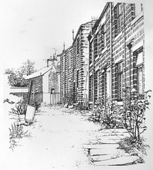 Cottages at Barrowford Lancashire (skyeshell) Tags: old buildings drawing cottages terracedhouses barrowford dippenink