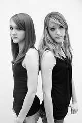 double the trouble (dehephotography) Tags: white black girl devin studio twins eyes identical hendrick