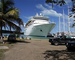 Monarch of the Seas docked at Antigua