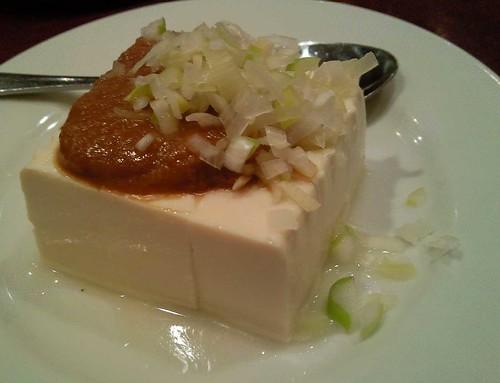 みそ掛けの冷豆腐