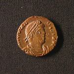 "<b>378 Obverse</b><br/> <a href=""http://en.wikipedia.org/wiki/Jovian_(Emperor)"" rel=""nofollow""><u><b>Jovian</b></u></a> <i>Reign: AD363 - 364</i> Jovian was chosen to be the emperor while campaigning in Mesopotamia with the previous ruler, Julian. After Julian's death, Jovian started retreating, and was forced to surrender Roman holdings east of the Tigris and in Armenia to ensure his own safety. He reinstated Christianity and banned all pagan ceremonies, after a brief pagan revival under Julian.  Donated by Dr. Orlando ""Pip"" Qualley<a href=""http://farm3.static.flickr.com/2769/4351359385_e13f2495b8_o.jpg"" title=""High res"">∝</a>"