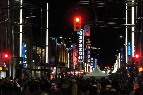 Granville Street awash in light