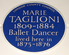 Photo of Marie Taglioni blue plaque