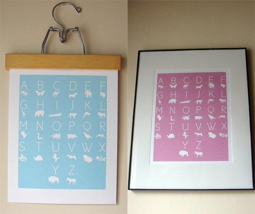 Freebie Alert : Kind Over Matter ABC Birthday Prints! - framed