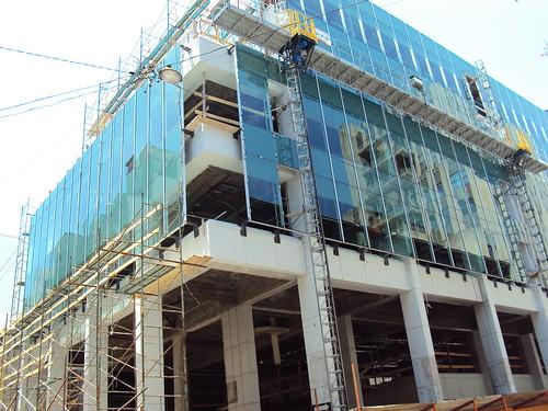 Un edificio en construccion en Montevideo