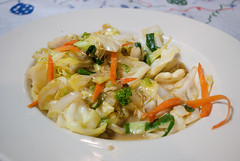 Sauteed vegetables.