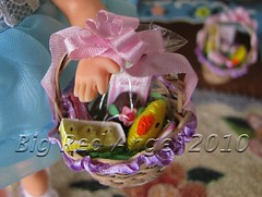 Tutti's Easter Basket (Big Red Angel) Tags: easter miniature basket barbie size diorama tutti