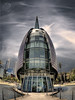 Swan Bells (Chantal Steyn) Tags: city building architecture nikon australia structure belltower fisheye perth polarizer hdr d300 photomatix