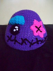 101_1107 (CrazyHatSociety) Tags: halloween rainbow purple cosplay handmade humor adorable hats creepy etsy geekery deadbaby neoncolors ravelry crazyhatsociety threadknits tauntonstitchandbitch