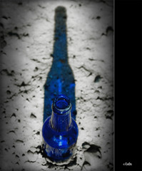 (0265) Blue night shadow (EnDe53) Tags: blue shadow bottle object blau schatten flasche objekt abigfave ennodernov mygearandmepremium mygearandmebronze