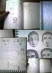 page1 (Art Fountain) Tags: people fashion collage pencil drawings sketches coloured dollies doodling shading hidetoshinakata