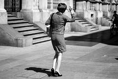 (07)Milan, do you remember? (Donato Buccella / sibemolle) Tags: street blackandwhite bw italy woman milan 50mm 60s shadows milano streetphotography chanel piazzadeimercanti canon400d sibemolle fotografiastradale nonlafigliaditotti lafigliaditottichalagrana unfilmdirossellini