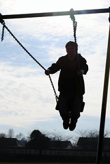 Silhouette (f_shields) Tags: silhouette nikon russell swings swing picnik dps overlee 040310 digitalphotographyschool d3000 dpsweekendchallenge dpssilhouettes overleepark
