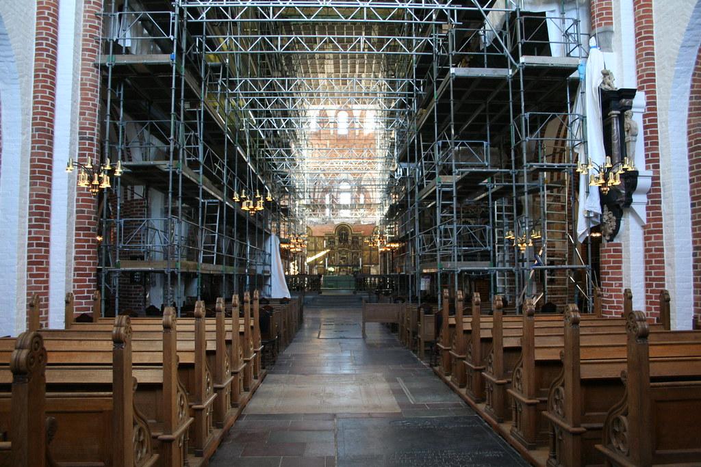 Inside Roskilde Caathedral