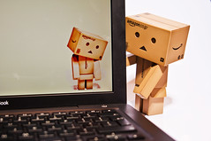 Trapped in a mac Danbo was sad