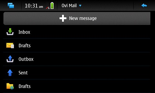 Ovi IMAP account on Default Email App