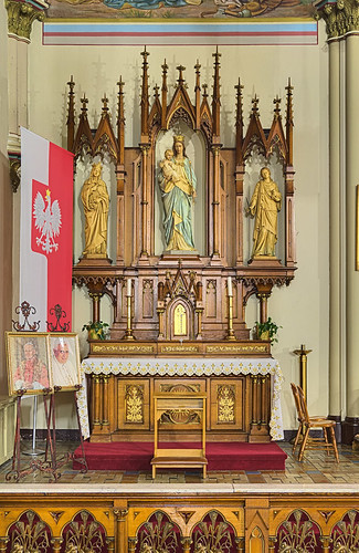 Saint Agatha Roman Catholic Church, in Saint Louis, Missouri, USA - Mary's altar