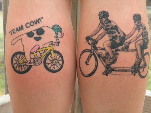 Gabrielle Coughlin, Des Moines IA by Squirrels Cycling Tattoo Collection