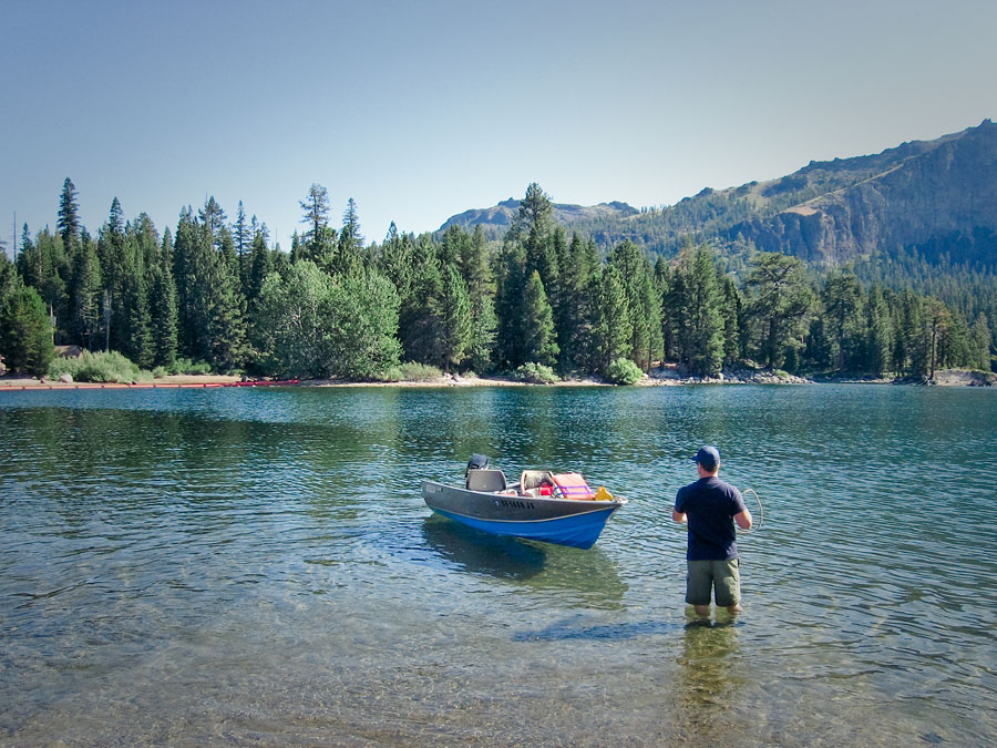 Fishing at Silver Lake