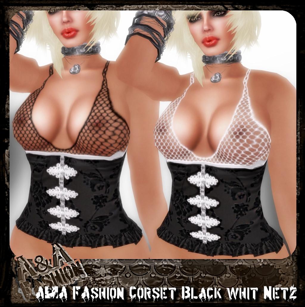 A&A FAshion Corset whit Netz black