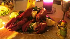 Earth Hour 2010 Lobster dinner Norway #2