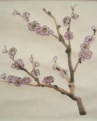 Outlined Cherry Blossoms
