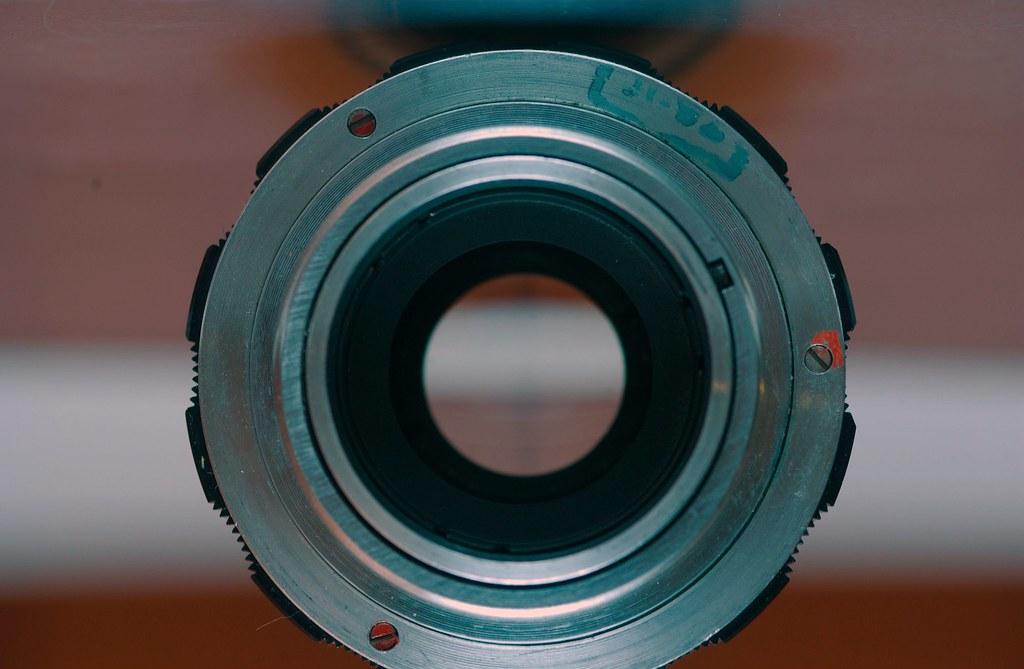 Test Shot 3 with Car Boot Sale Miranda 700 CD Flash Gun : Russian Industar 61 Leica Screw Rangefinder Lens 53 mm F2.8 :
