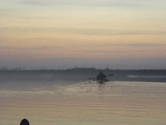 4 Leaving a Wake of Light (Glass Bead Game Master) Tags: sunrise easter kayak paddle charles kayaking davidt
