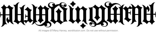 """Always in my Heart"" Ambigram"