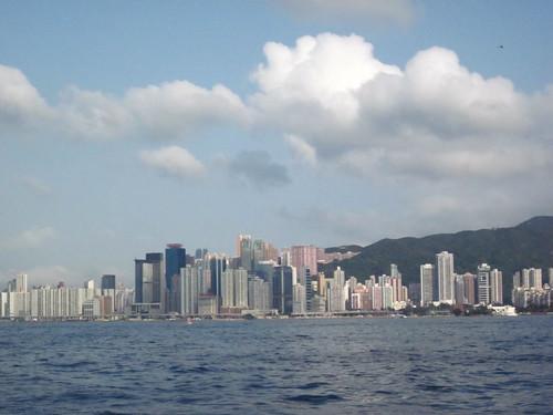 Hong Kong sky line.