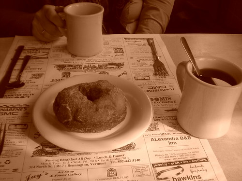 Blue Benn Diner breakfast with Mom
